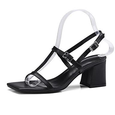 Eté Bottier Femme Noir Talon Gris Chaussures 06848468 Sandales Confort Cuir Nappa q1BOt1