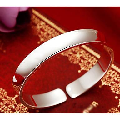 billige Motearmbånd-Dame Mansjettarmbånd Bred Bangle Klassisk Elegant Kreativ damer Stilfull Klassisk Elegant Kobber Armbånd Smykker Sølv Til Daglig Stevnemøte / S925 Sterling Sølv