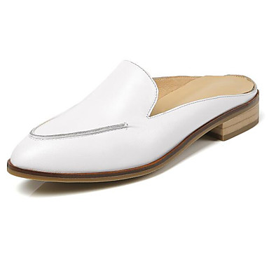 Printemps Femme amp; Confort 06850023 Nappa Noir Mules Plat Chaussures Talon Cuir Sabot Blanc qwqaS1O