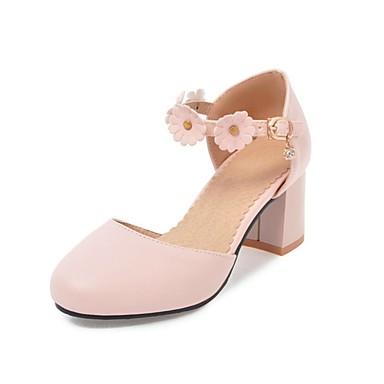 Bout Bottier Rose été Cheville Polyuréthane Printemps Noir 06846214 Beige de Bride rond Femme Talons Chaussures Talon à Chaussures fPqanW7