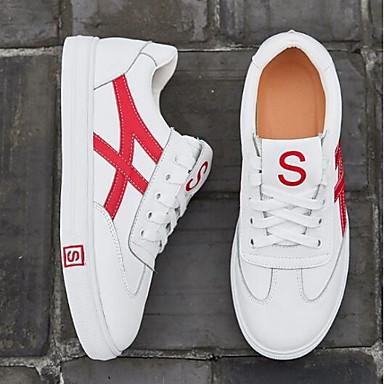 Noir Chaussures Cuir Confort fermé Printemps Plat Bout Femme Eté Basket 06841748 Rouge Nappa Talon PCqHww5d
