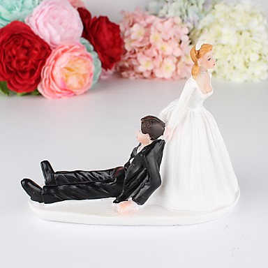 cheap Wedding Reception-Cake Topper Garden Theme / Classic Theme / Vintage Theme Simple Style / Pastoral Style ABS Resin Wedding / Special Occasion with Solid 1 pcs Gift Box