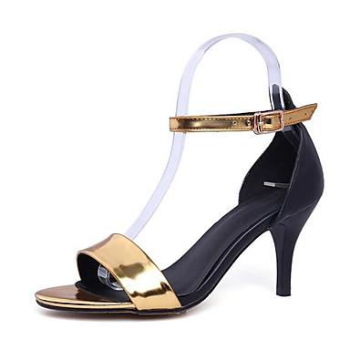 Noir Confort Sandales Femme Or Chaussures Cuir Talon Argent 06863563 Eté Aiguille Nappa WA17wnx1