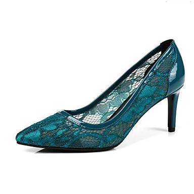 Femme Confort Printemps Noir Rose Maille Chaussures à Chaussures Aiguille Talon 06848347 Bleu Talons 1rgqw1
