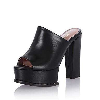 Sandales Blanc Nappa Confort Femme Heel Eté Cuir Chaussures Noir 06848865 Block wq88xXSOE