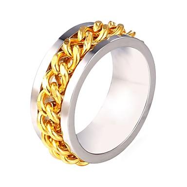 voordelige Herensieraden-Heren Ring 1pc Zilver Roestvast staal modieus Modieus Lahja Dagelijks Sieraden Lasso Creatief