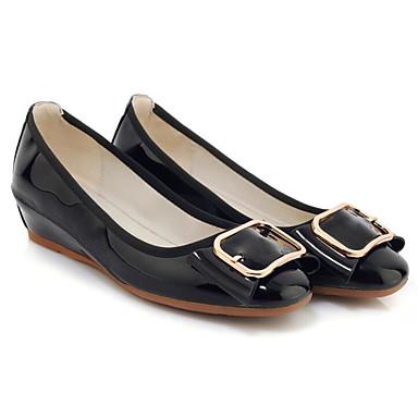 Chaussures Cuir Printemps Rouge Talon Noir Plat Confort 06850218 Amande Verni Ballerines Femme SaBwqdq