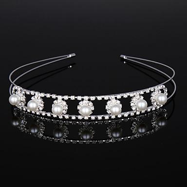 abordables Coiffes-Cristal / Imitation de perle / Alliage Diadèmes / Casque avec Cristal / Détail Cristal 1 Pièce Mariage / Anniversaire Casque