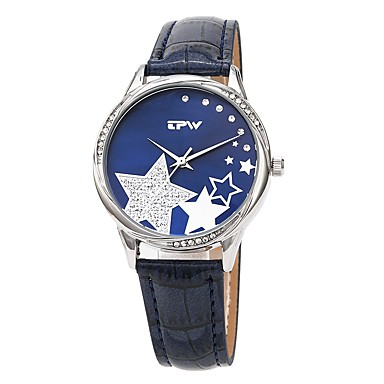 cheap Women's Watches-Women's Dress Watch Japanese Japanese Quartz Quilted PU Leather Black / White / Pink 30 m Casual Watch Cool Lovely Analog Ladies Casual Fashion - White Black Pink One Year Battery Life / Sony-SR626SW