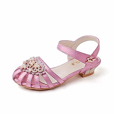 40b55408de32 Girls  Shoes PU(Polyurethane) Summer Flower Girl Shoes   Tiny Heels for  Teens