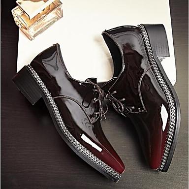 synthétique 06843306 Talon Confort Chaussures Bourgogne Oxfords Femme fermé Bout Polyuréthane Eté Matière Printemps Bottier OAWtqT