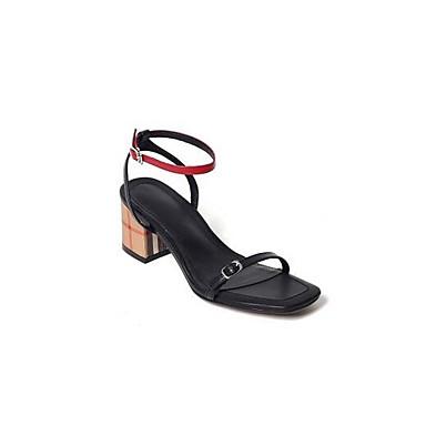 Nappa Confort Bottier Talon Sandales Cuir Eté 06857137 Chaussures Femme Noir xIZvPP