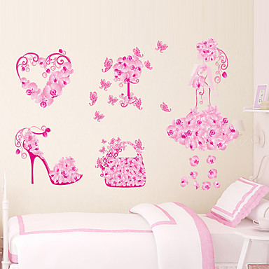 cheap Home & Garden-Decorative Wall Stickers - Plane Wall Stickers Floral / Botanical Living Room / Bedroom / Bathroom