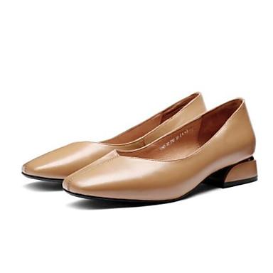 Automne D6148 Confort 06840934 Chaussures Noir Marron et Mocassins Bas Talon Chaussons Cuir Nappa Femme tqaFCwx