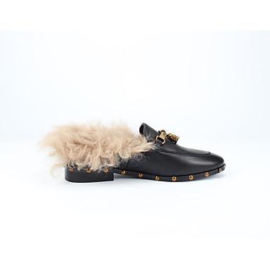 06863595 Cuir Talon Plat Chaussures Confort Automne Femme Mocassins et Noir hiver Chaussons D6148 Nappa vOd5daPq