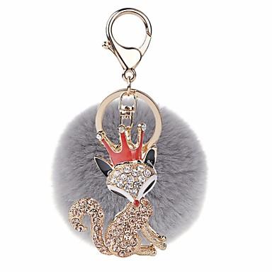 povoljno Privjesci za ključeve-Privjesak Lopta Lisica slatko Moda Modno prstenje Jewelry Crvena / Plava / Pink Za Dar Spoj