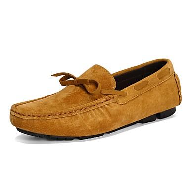 Men's & Suede / Cowhide Fall & Men's Winter Comfort Boat Shoes Color Block Dark Blue / Gray / Yellow e7a40c