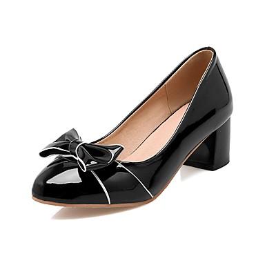 amp; Noir Rose Automne Talons Basique Chaussures Escarpin Noeud Polyuréthane Block Beige Bout Heel à rond Printemps Femme 06856890 Chaussures TZpxxt