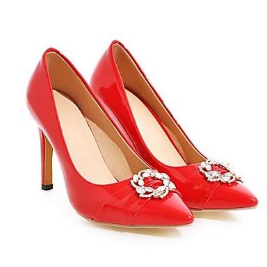 Negro PU Básico 06841010 Rojo Tacón Primavera Confort Pump Tacones Mujer Zapatos Stiletto RnTzxp