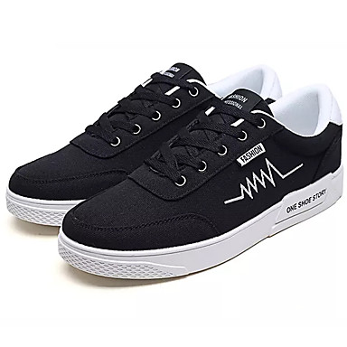 Men's Canvas Summer Light Soles Sneakers Gray / Black / Red White / Black / Red / f82605