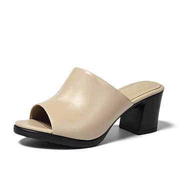 Amande Cuir Bottier Sandales Confort Talon Femme 06865069 Nappa Blanc Noir Eté 47dnzq