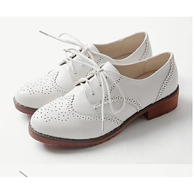 Polyuréthane claire Bottier Oxfords Chaussures Talon Brun 06845417 Automne Noir Printemps Blanc amp; Confort Femme 8nqY757w