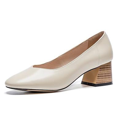 Chaussures Chaussures Talons Cuir Talon Escarpin Confort Bottier Marron Noir amp; Femme Automne 06843290 Nappa Basique Beige Printemps à dzxAqw5P