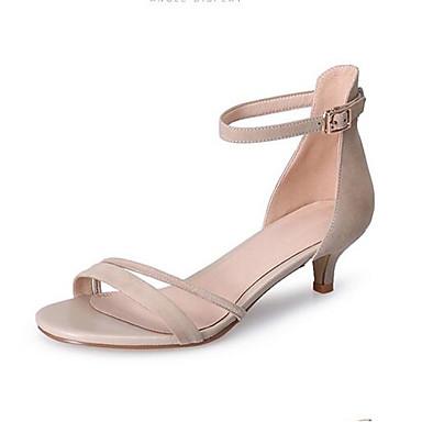 Daim 06863573 Chaussures Talon Eté Rose Femme Confort Bas Sandales Noir fqwWPp