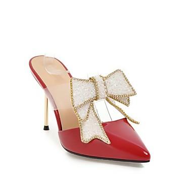 Argent Printemps Confort Femme Aiguille été 06863581 amp; Pêche Mules Chaussures Sabot Talon Nappa Cuir Rouge C7cvB7q