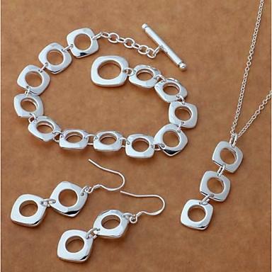 hesapli Kadın Takıları-Kadın's Damla Küpeler Uçlu Kolyeler Silver Bracelets Şık iz Yaratıcı Bayan Şık Basit Zarif S925 Gümüş Küpeler Mücevher Gümüş Uyumluluk Hediye Randevu