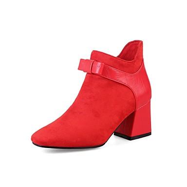 Bottine à hiver Automne Talon Bottier Noir la Bottes Bottes Polyuréthane Mode Femme Vert Rouge Botte 06857239 Demi Chaussures HqBnxPPA