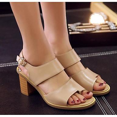 homme cuir / femme de cuir homme des chaussures de femmes nappa · au printemps et à l'été le confort des sandales chunky talon blanc / noir · reconnaissante des comHommes taires 1fc9ec
