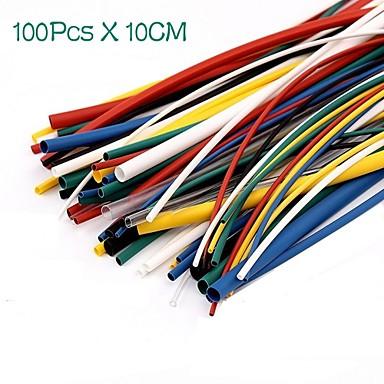 tanie Sprzet i akcesoria elektryczne-100 sztuk zestaw termokurczliwych przewodów rurowych termokurczliwych