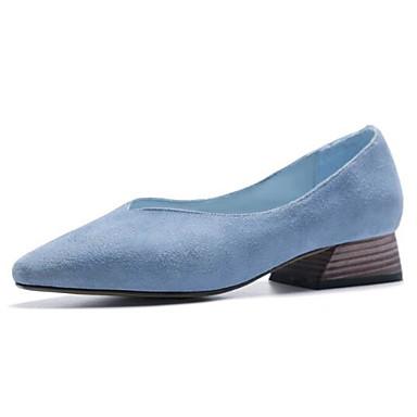 Printemps Bottier Bout Confort Peau Talon Bleu Rose Ballerines Noir de fermé 06846239 Daim Eté Femme mouton Chaussures FwpUF