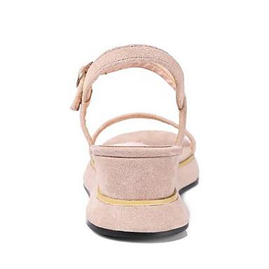 Plat Daim Blanc Talon Confort Noir Eté Femme 06862067 Chaussures Sandales Zwx1CTq