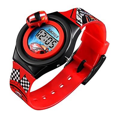 baratos Relógios Homem-SKMEI Mulheres Casal Relógio de Pulso Relogio digital Digital Silicone Azul / Vermelho / Cinza Calendário Fofo Legal Digital Desenho Fashion - Vermelho Azul Azul Claro