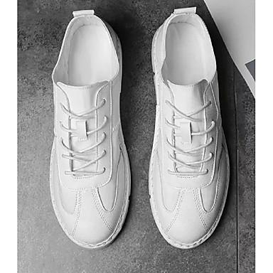 Accurato Per Uomo Scarpe Comfort Di Corda Estate Casual - Collegiale Sneakers Bianco - Nero #06878166 Famoso Per Materie Prime Di Alta Qualità, Gamma Completa Di Specifiche E Dimensioni E Grande Varietà Di Design E Colori