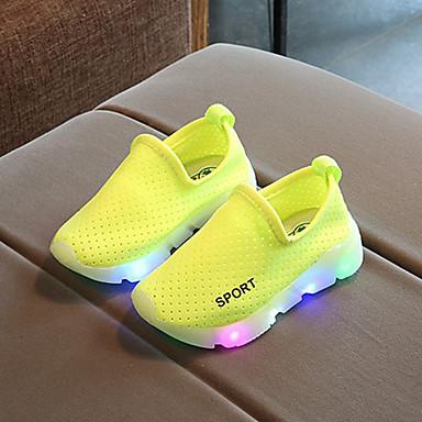 voordelige Babyschoenentjes-Jongens / Meisjes Schoenen Netstof Lente & Herfst Comfortabel / Oplichtende schoenen Sneakers LED voor Kinderen / Peuter Rood / Groen / Roze