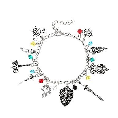 abordables Bracelet-Breloque Charms Bracelet Femme Le style rétro Tendance Créatif dames Pendant Anime Tropical Bracelet Bijoux Argent Irrégulier pour Soirée Plein Air