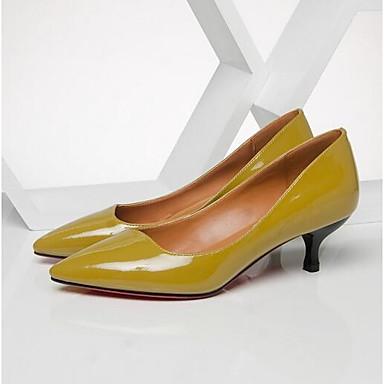 06857113 Femme Cuir Talons Noir Printemps Nappa à Confort Chaussures Chaussures Jaune Aiguille Talon 7rqBn7