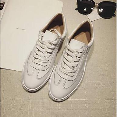 Talon Basket Confort Plat Cuir Printemps fermé 06854666 Blanc Bout Femme Eté Chaussures Nappa Z6Fw0F