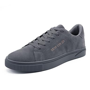 Men's Black Comfort Shoes PU(Polyurethane) Fall Casual Sneakers Non-slipping Black Men's / Gray / Khaki 0b3cf6