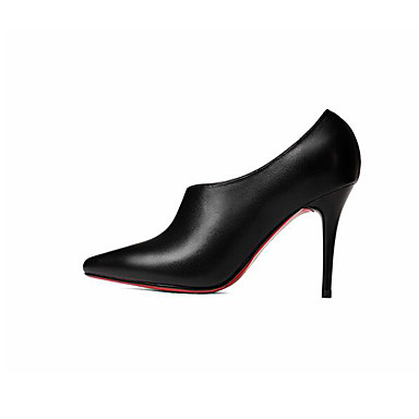 amp; 06869616 Cuir Automne Chaussures Beige Noir Décontracté Nappa à Aiguille Talons Femme Talon Printemps qtxdwOff