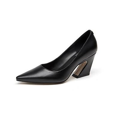 Cuir Confort Noir Printemps hétérotypique Femme Talon Chaussures Chaussures Blanc 06856736 Talons à Nappa xq45pFUw5A
