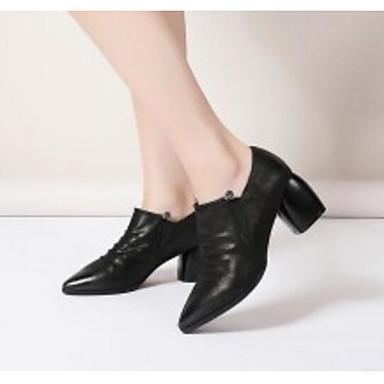 Véronèse Femme Noir Vert Automne Talons 06869614 Décontracté Bottier Chaussures Nappa Printemps amp; Talon Cuir à 14OqU