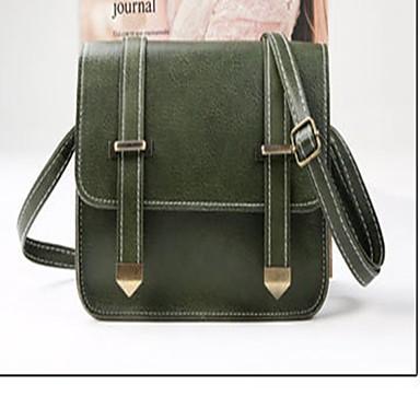 للمرأة أكياس PU حقيبة الكتف لون واحد أخضر داكن / خمر / كاكي