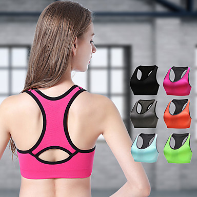 ba617611a4 Women s Racerback Bra Top Green Blue Grey Sports Solid Color Sports Bra  Zumba Yoga Running Plus Size Activewear Breathable High Impact Freedom  Stretchy ...