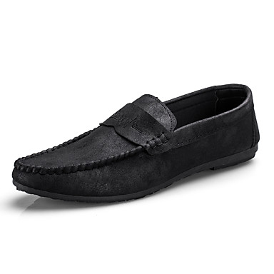Men's Moccasin PU(Polyurethane) Fall Non-slipping Casual Loafers & Slip-Ons Non-slipping Fall Black / Gray / Yellow c8949c