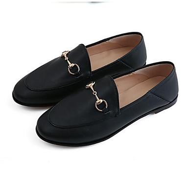 Talon fermé Eté Confort D6148 06850101 Printemps Chaussures Rose Nappa Bout Cuir et Mocassins Femme Noir Chaussons Plat wgqRvR