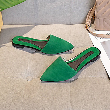 Femme Chaussures de de de confort Polyuréthane Automne Minimalisme Sabot & Mules Talon Bas Paillette Noir / Rouge / Vert | Belle Qualité  adc144
